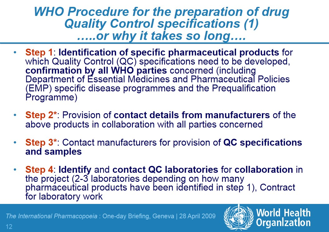 ppt  the international pharmacopoeia