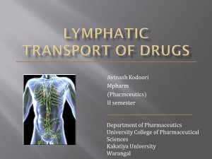 Lymphatic Transport of Drugs powerpoint