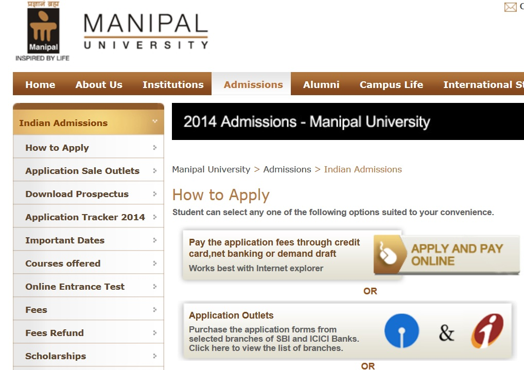 Manipal admissions