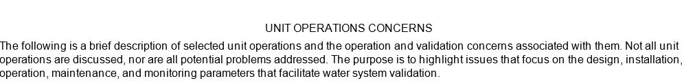 [PPT PDF] Pharmaceutical Water System Design Validation -UNIT OPERATIONS CONCERNS im