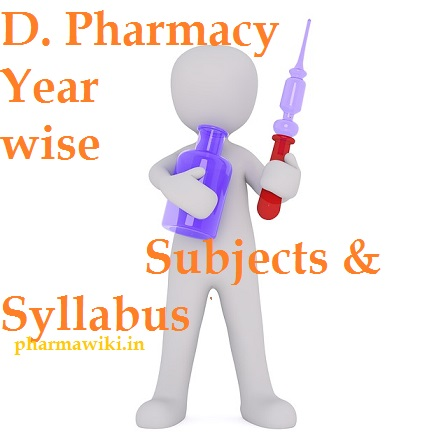 D  Pharmacy Year wise Subjects & Syllabus - D Pharma First [1st