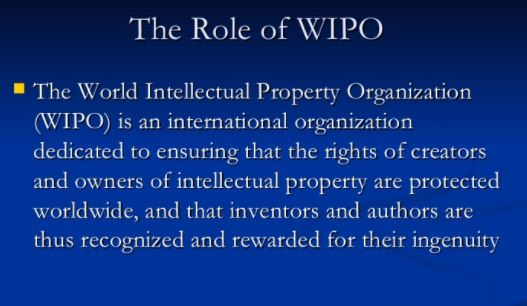 Functions of WIPO