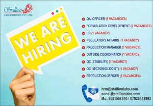 pharma related jobs walkin freshers