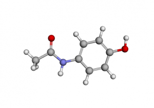 Paracetamol 3D Structure -Tablet Acetaminophen composition