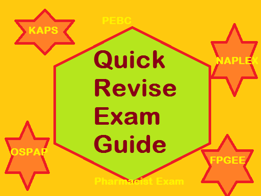 NAPLEX FPGEE OSPAP KAPS PEBC Pharmacist Exam Quick Revision #1 Pharmacology Guide