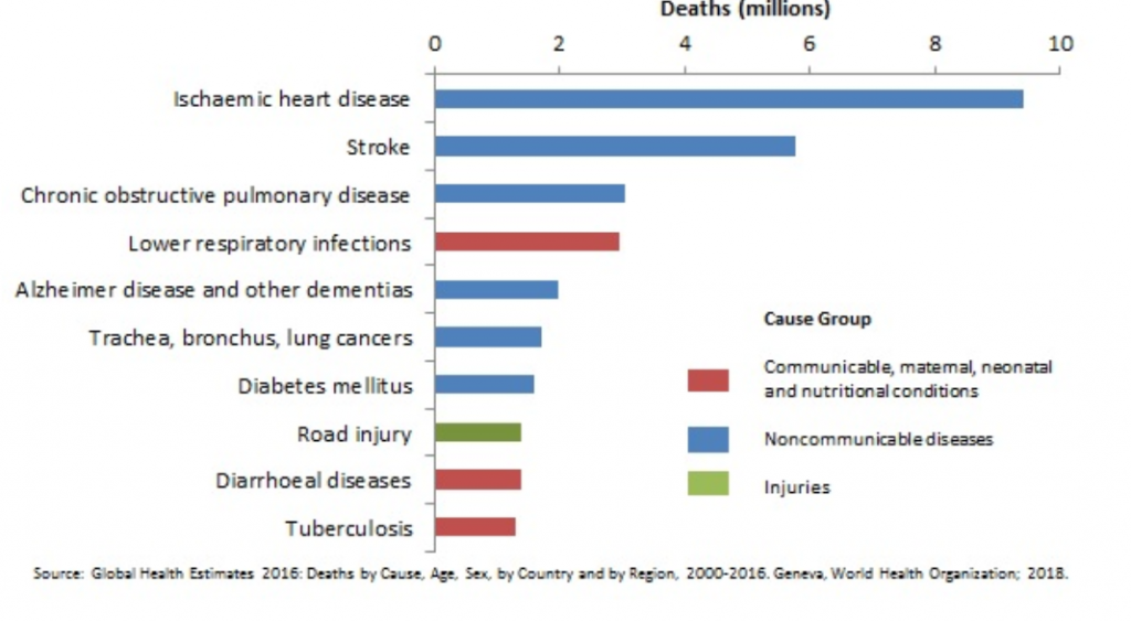 Top 10 Causes of Death globally