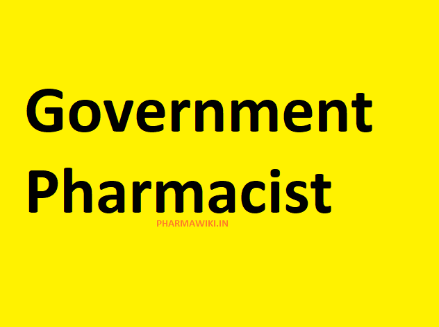 Government Pharmacist GENERAL STUDIES