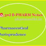 3rd B-PHARM Notes